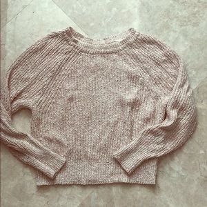 Free people light pink sweater xs